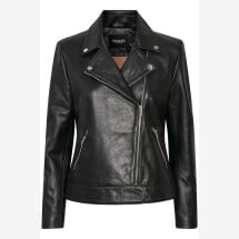 -Soaked in Luxury Biker Jacket in black-21