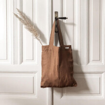 -Linen bag Smilla cinnamon Lundkvist-21