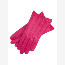 -Pavia Womens Leather Gloves in Hot Pink-21