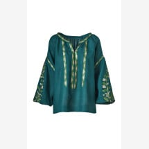 -Embroidered linen blouse Margo-21