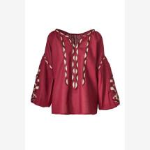 -Embroidered linen blouse Kala-21