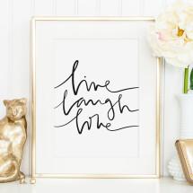 -Tales by Jen Art Print: Live Laugh Love-21