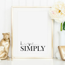 -Tales by Jen Art Print: Live Simply-21