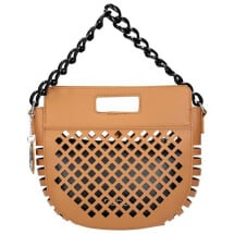 -Brown eco leather summer bag-21