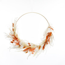 -Dried flower hoop Ambertraum gold 40 cm-21