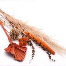 -Dried flowers set amber-21