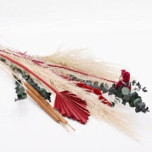 -Dried flowers set red-22
