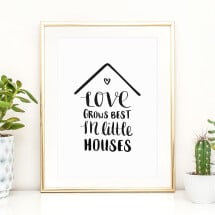 -Tales by Jen Art Print: Love grows best in little houses-21