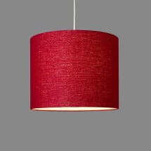 -Linum ceiling lamp made of 100% linen raspberry red-21