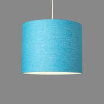 -Linum ceiling lamp made of 100% linen sky blue-21