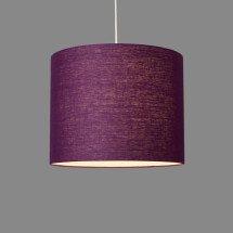 -Linum ceiling lamp made of 100% linen purple-violet-21