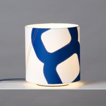 -Table lamp Heimathafen made of sail blue-21