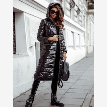 -High gloss coat with hood-21