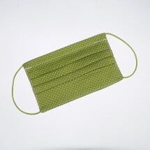 -Mouth-nose mask grass green with small dots-21