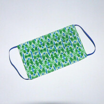 -Mouth-nose mask kissing birds green-blue-21
