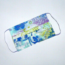 -Mouth-nose mask floral white green blue lilac-21