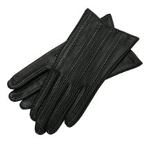 -Pavia Black Womens Leather Gloves-22