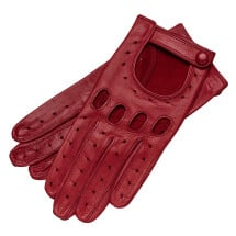 -Messina Womens Leather Driving Gloves in Rosso-21