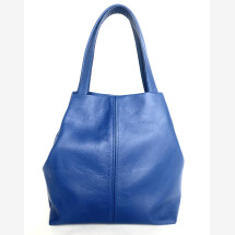-Mini Shopper aus upcycling Leder königsblau-21