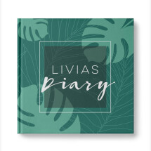 "-Personalized diary ""Palm trees""-2"