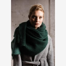 -Mohair scarf forest green-21