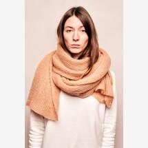-Mohair scarf caramel-21