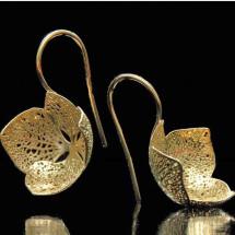 -Earrings Hydrangea golded-21