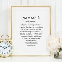-Tales by Jen Art Print: Namasté-21