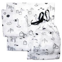 -Nuukk White Urban Jungle Muslin Cotton Fabric Baby Clothing Set-21