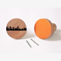-NEW YORK Wardrobes Knobs made of beech wood wall hooks-20