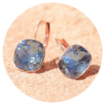-Artjany earring denim blue rose gold-2