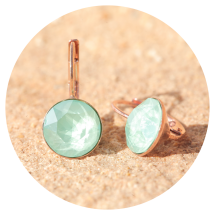 -Artjany earrings mint green rose gold-2