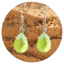 -artjany Earring crystal lime silver-21