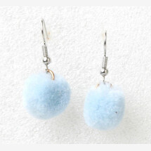 -Earrings pompom light blue-21
