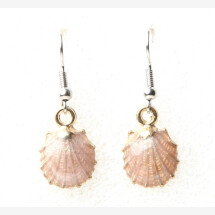 -Earrings shell pink-21