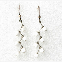-Earrings zig zag howlite-21