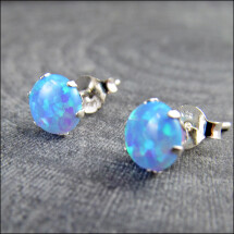 -Small opal earrings made of 925 silver-21