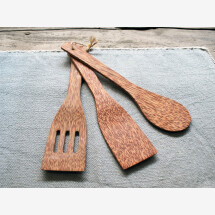 -Cooking utensils made of coconut wood set of 3-21
