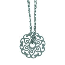 -Chain with spring pendant stainless steel DUPLICATE-2