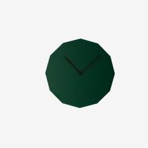 -Neo / Craft Green Twelve Sided Wall Clock-21