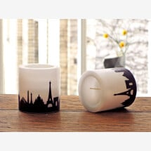 -Modern candle set Paris with Paris skyline city candles by 44spaces-21