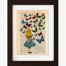 -Alice Watching Butterflies on 1830s Encyclopaedia Page-21