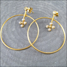 -Apartes gold creole pair with real pearls 925 silver-21