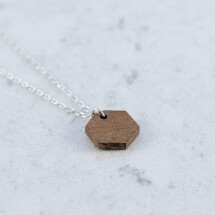 -Sapele HEXAGON NECKLACE-21