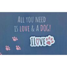 -Pin dog paw I love dogs-21
