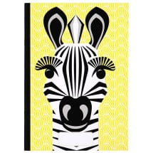 -Coq En Pate Yellow Notebook Zebra A5-21