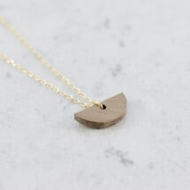 -Walnut HALFMOND NECKLACE-21