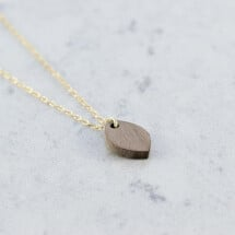 -Walnut OVAL NECKLACE-21