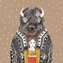 -Bison postcard Liekeland-21