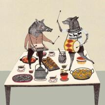 -Animals playing music postcard Liekeland-21
